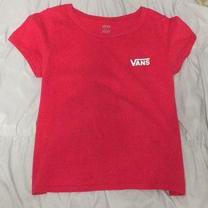 Red vans T-shirt.